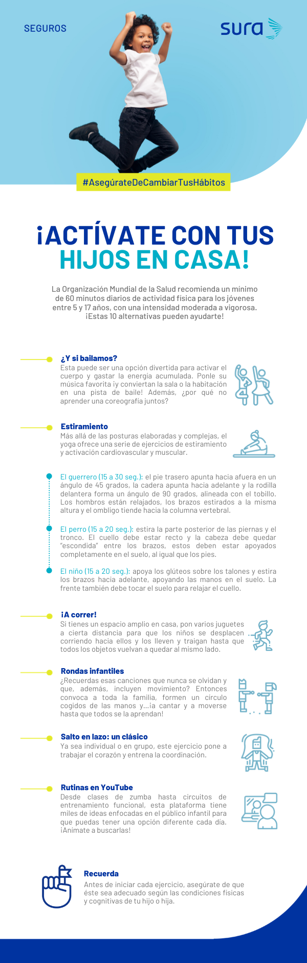 Infografía - Actívate hijos casa