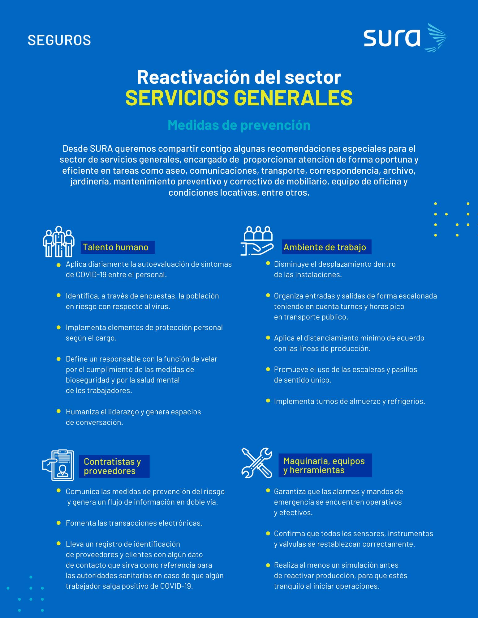Infografía - sector Servicios Generales